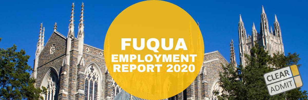 duke mba employment report