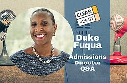 admissions director duke