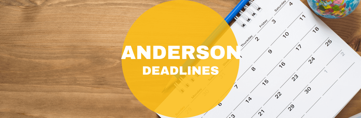 anderson deadlines - Ucla Early Action Application Deadline