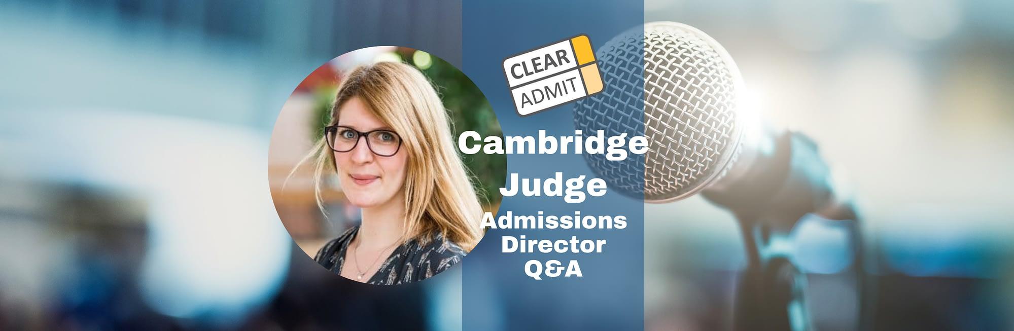 admissions cambridge judge