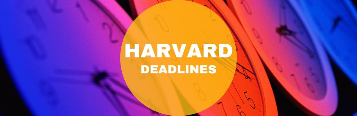 Harvard Calendar 2022.Harvard Mba Deadlines 2021 2022 Full Time Mba Program