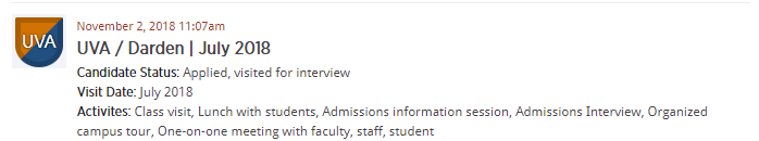 MBA VisitWire Spotlight: UVA / Darden