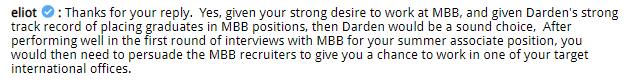MBA DecisionWire Spotlight: Cornell / Johnson or UVA / Darden for MBB